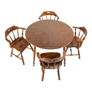 Ethan Allen Heirloom Nutmeg Maple Dining Table & Chairs