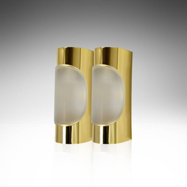 1960s Doria Leuchten Brass Sconces - a Pair For Sale In New York - Image 6 of 8