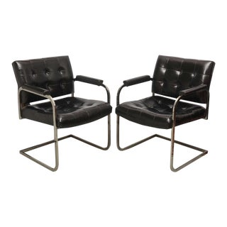 Chrome Lounge Chairs by Patrician Furniture, Usa, 1960s For Sale