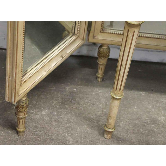 Antique Folding Mirror Vanity Table With Onyx Top For Sale In New York - Image 6 of 8