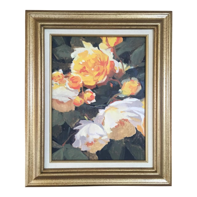 Vintage French Oil Flower Painting - Image 1 of 5