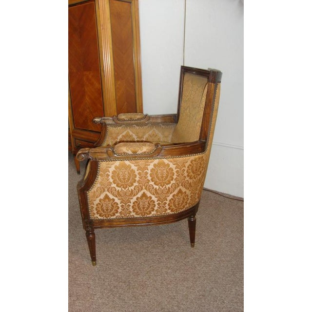 Maison Jansen Pair of Louis XXI Style Armchairs by Maison Jansen For Sale - Image 4 of 8