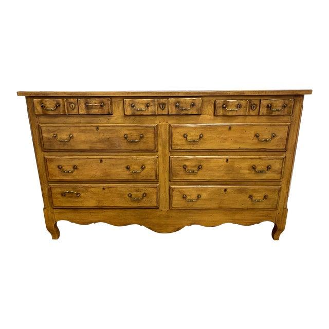 Heritage Drexel Heritage Nine Drawer Chestnut Finish Dresser For Sale