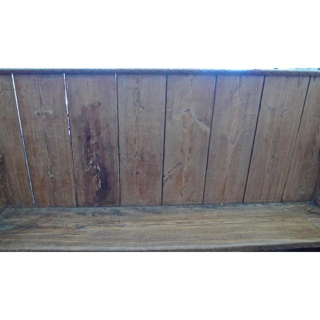 19th Century 19th Century English Stained Pine Church Pew For Sale - Image 5 of 12