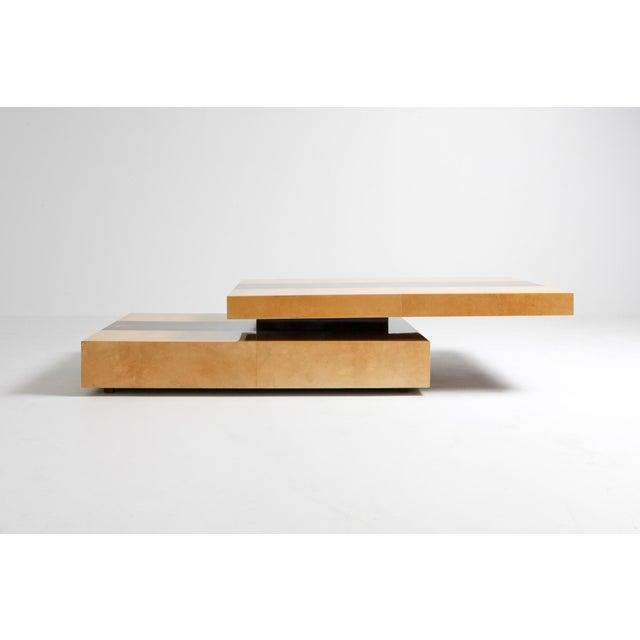 Aldo Tura Aldo Tura Two-Tier Sliding Coffee Table For Sale - Image 4 of 12