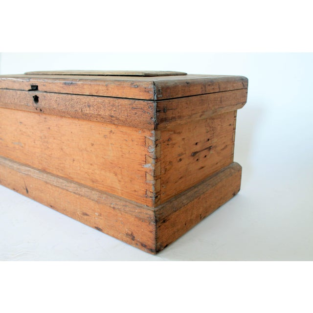 Rustic Wooden Storage Trunk For Sale - Image 4 of 11