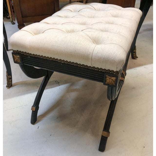Louis XV Style Desk / Secretary With Neoclassical Stool Set For Sale - Image 4 of 13