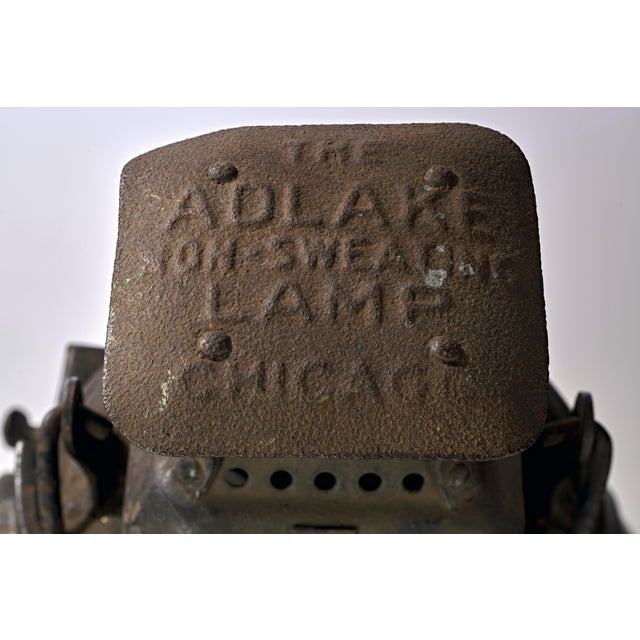 19th Century Industrial Adlake Rare Railroad Switching Light/Lantern For Sale - Image 12 of 13
