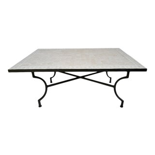 Beige & Cream Mosaic Coffee Table For Sale