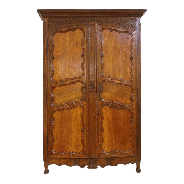 Large 18th Century French Walnut Armoire For Sale