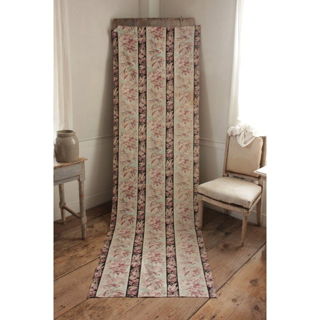 A charming antique French fabric with lovely parrot motif! This lovely fabric was printed c 1890-1900. It is a heavy...