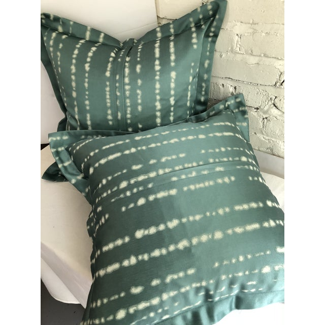 """Turquoise 24"""" Jim Thompson Pillows - a Pair For Sale - Image 8 of 11"""