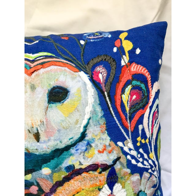 Anthropologie Starla Michelle Halfmann Owl Pillow - Image 9 of 9