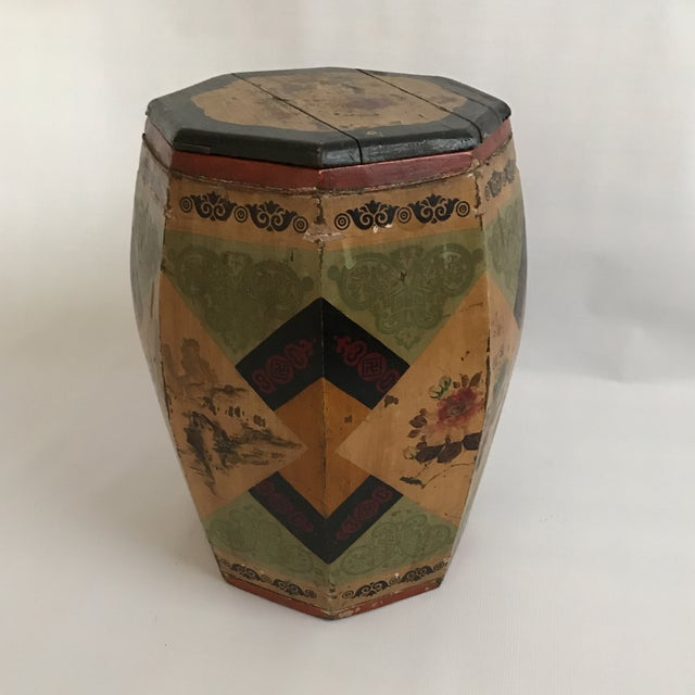 Chinese Octagonal Barrel & Lid For Sale - Image 11 of 11