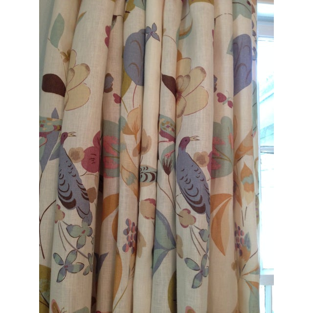Cottage Vervain Padgett Orchid Drape Panels - Set of 4 For Sale - Image 3 of 12