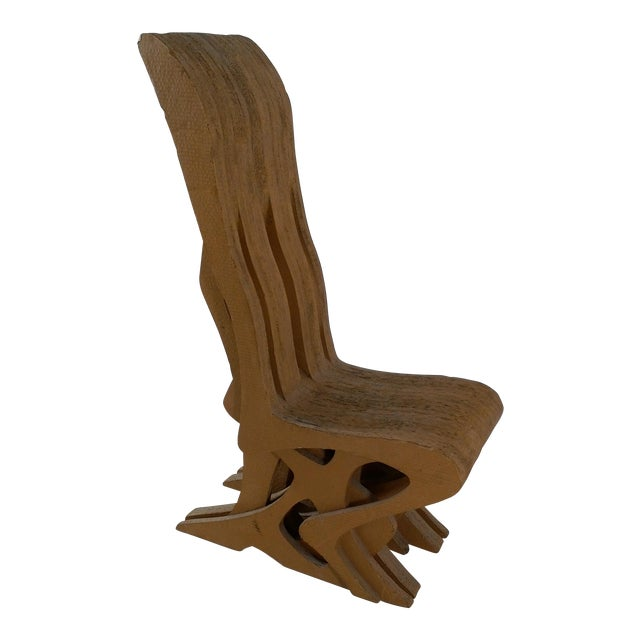 Vintage Cardboard Chair, 1970s For Sale