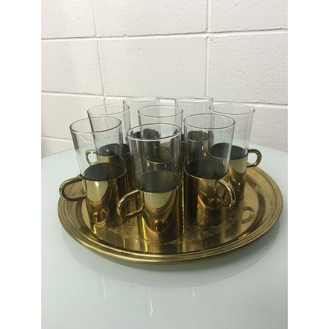 Turkish Coffee Glasses With Tray - Set of 8 - Image 2 of 8