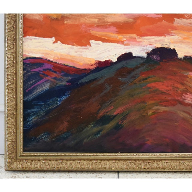 Impressionist Santa Barbara Sunset Painting by Juan Guzman For Sale In Los Angeles - Image 6 of 9
