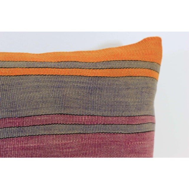 Vintage Turkish Striped Kilim Pillow Cover - Image 3 of 7