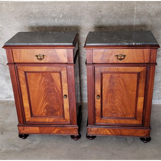 19th Century 19th Century French Crotch & Burl Mahogany Confiture Cabin For Sale - Image 5 of 12