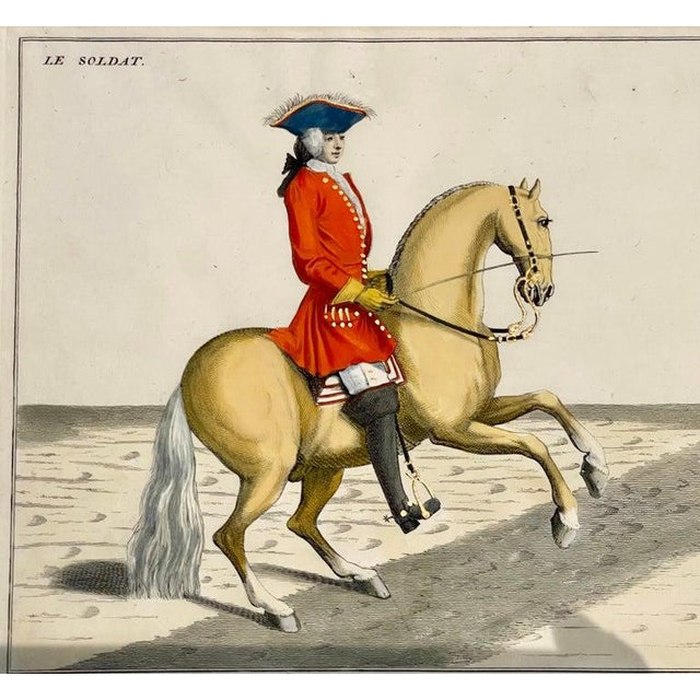 Four Engravings of Horse Riders Le Soldat, Le Grand, Le Diligent, L' Enjoue For Sale In New York - Image 6 of 12