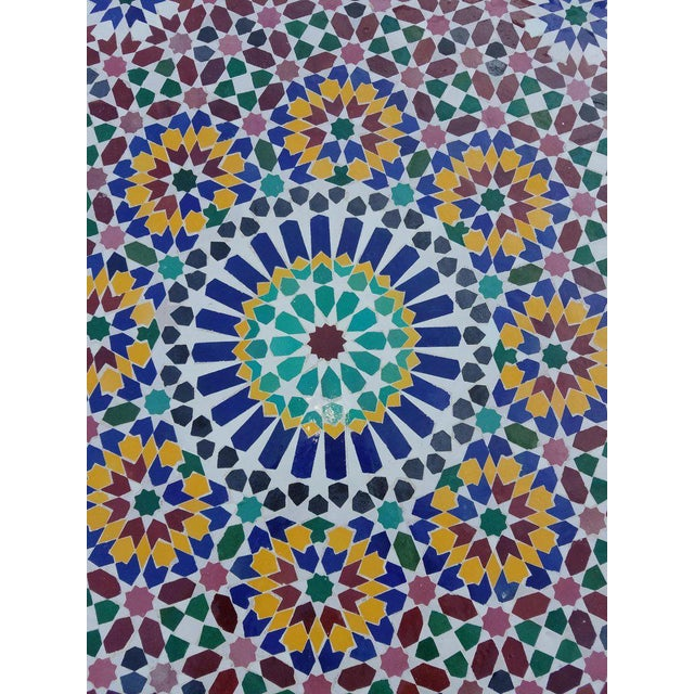 2010s Moroccan Multi-Color Mosaic Coffee Table For Sale - Image 5 of 7