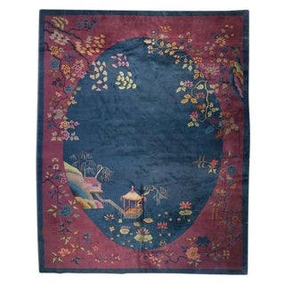 Chinese Art Deco Rug - 9′ × 11′6″ For Sale