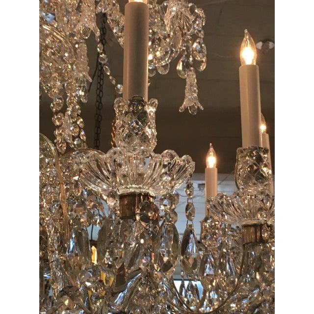 Antique Cut Crystal 18 Light Chandelier - Image 9 of 11
