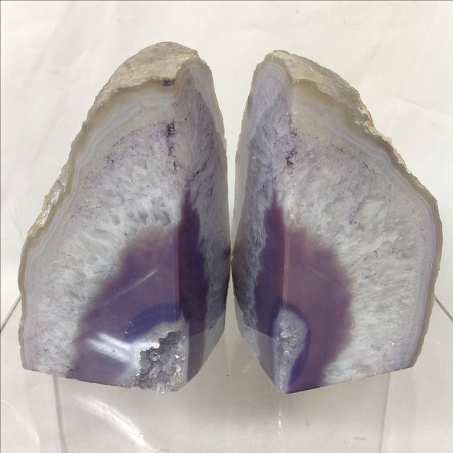 Large Lavender Geodes - A Pair - Image 3 of 5