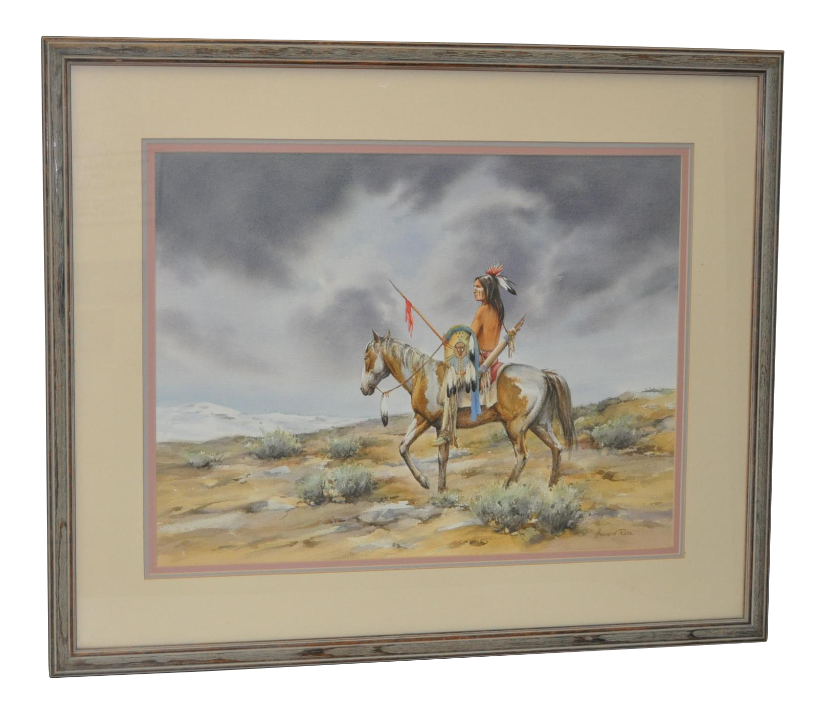 Howard Rees American 20th C The Scout Original Watercolor C 1980 Chairish