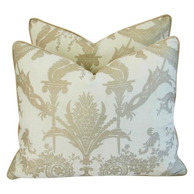 Designer Italian Fortuny Lamballe Pillows - Pair - Image 1 of 11
