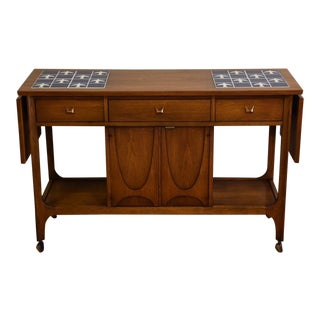 Broyhill Brasilia Rolling Bar Cart For Sale