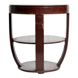 British Colonial Art Deco Round Table