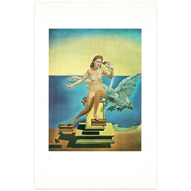 "Turquoise 1957 Salvador Dalí ""Leda Atomica"" Period Vintage Lithograph Print For Sale - Image 8 of 9"