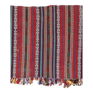 Vintage Decorative Turkish Kilim Rug For Sale