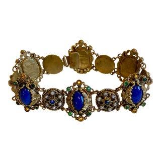 1930s Austro-Hungarian Design Jeweled Bracelet For Sale