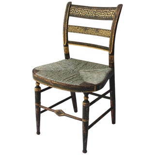 19th Century Gilt and Painted Side Chair For Sale