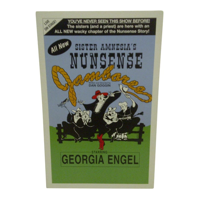 "Vintage ""Sister Amnesia's Nunsense"" Theater Poster For Sale"
