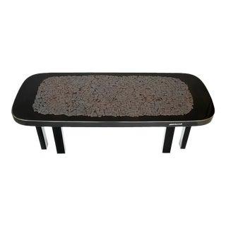 Etienne Allemeersch Hematite Inlaid Coffee Table For Sale