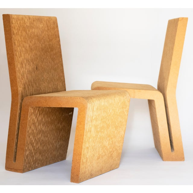 Easy Edges Cardboard Chair by Frank Gehry, Early 1970s Model For Sale In Austin - Image 6 of 11