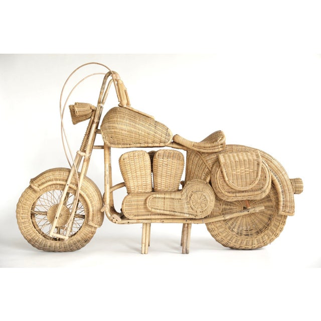 Tom Dixon Tom Dixon Rattan Motorcycle Sculpture For Sale - Image 4 of 13