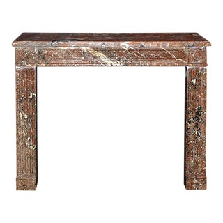 19th Century Louis XVI Style Rosso Francia Isabelle Marble Mantel For Sale
