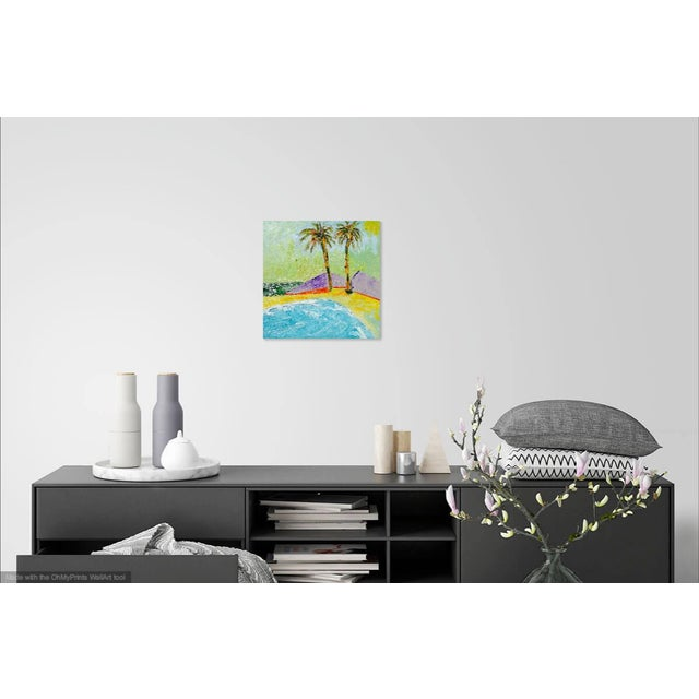 Abstract Two Beach Palms For Sale - Image 3 of 7