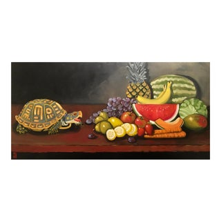 Stephen McDonough Contemporary the Feast Original Oil Painting For Sale
