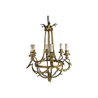 French Gilt 6-light Chandelier