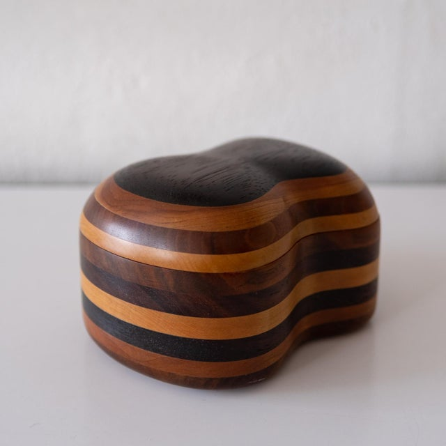 Mid-Century Modern Handcrafted Wood Jewelry Box, 1960s For Sale - Image 3 of 8