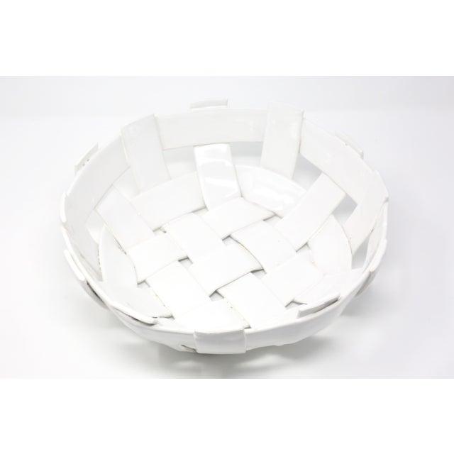 Vintage Handmade Ceramic Basket For Sale - Image 11 of 11