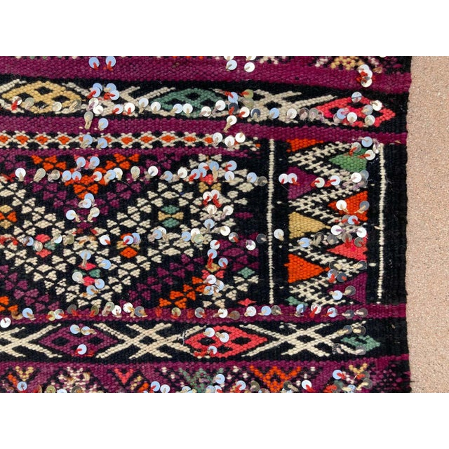 Textile 1950s Moroccan African Zemmour Ethnic Textile Rug For Sale - Image 7 of 13