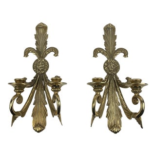 1960s Crafts Inc. Brass Sconces - a Pair For Sale