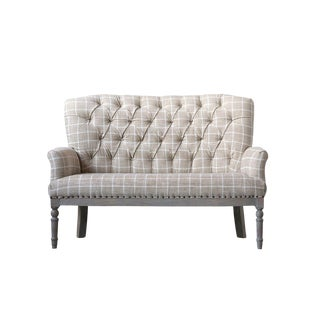 Classic Upholstered Settee For Sale